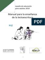 Manual Del Alfabetizador 2010 del Bilbabo