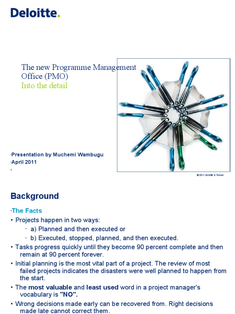 The New Programme Management Office (PMO) - Deloitte