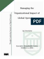Managing Organ Impact of Global Operations