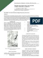 Photo Gram Metric Documentation and Analysis of Darius' Monument