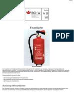 Feuerlöscher nach ASR