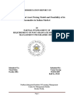 A Dissertation Report on Capm--- Final