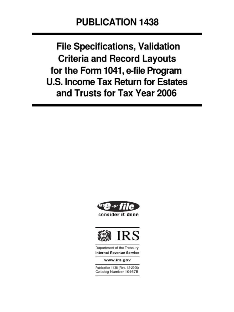US Internal Revenue Service: p1438 | Internal Revenue Service | File ...