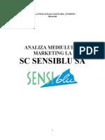 Analiza Mediului de Marketing La SC Sens