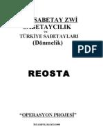Reosta Operas Yo Nu Sabetaycilik Ve Turkiye Sabetaylari