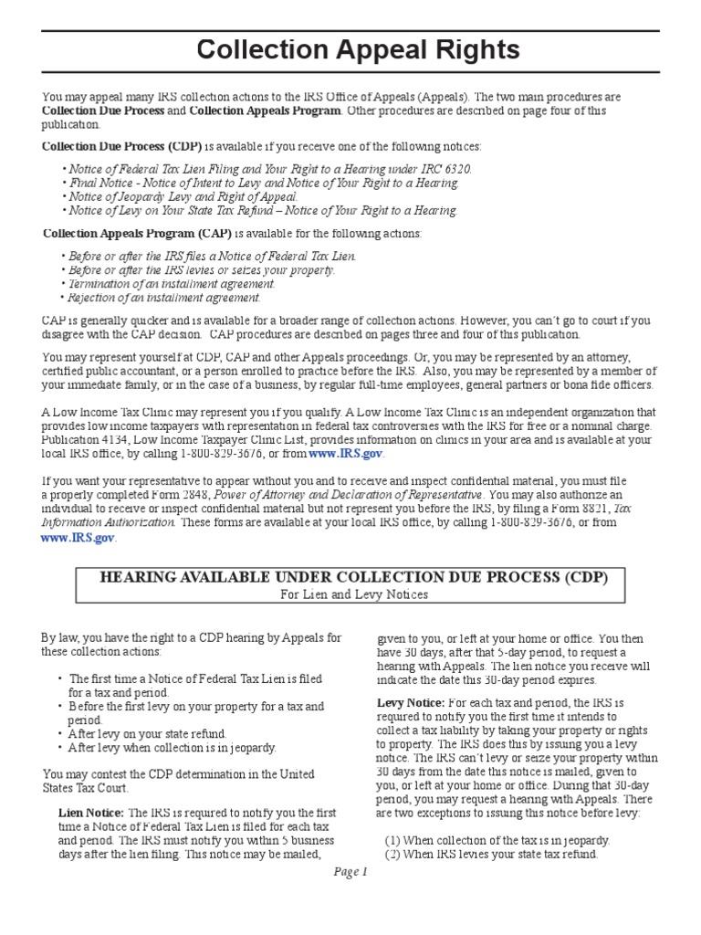 Us Internal Revenue Service P1660 Tax Lien Internal Revenue Service