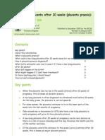 Pi Low Lying Placenta 2007