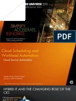 Cloud Scheduling and Workload Automation - Cloud Service Automation