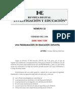 Nivel Educacion Infantil Titulo Programacion de Educacion Infantil Autora Carmen Sanchez Martinez