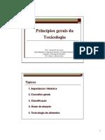 Princípios gerais da toxicologia aula