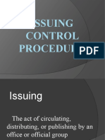 Issuing Control Food and Beverage