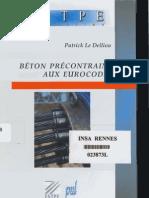Béton precontraint aux eurocodes