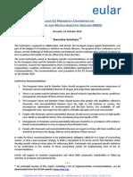 BELGIAN EU PRESIDENCY CONFERENCE ON RHEUMATIC AND MUSCULOSKELETAL DISEASES (RMD)