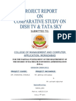 48504678 Project Report on Comparative Study on Dish TV Amp Tata Sky (2)