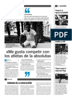 Entrevista David El periodico de Aragón