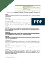 Istilah-istilah dalam Produksi Film dan Acara TV (Glossary)