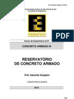 Concreto III Notas C12 Reservatorio de Concreto