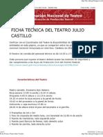 Ficha Técnica Teatro Julio Castillo