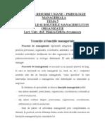 Activitatile Si Rolul Managerului