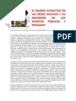 EL MUNDO ATRACTIVO DE LAS REDES SOCIALES Y SU INCURSIÓN EN LOS ASUNTOS PÚBLICOS