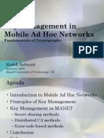 Key Management in MANET