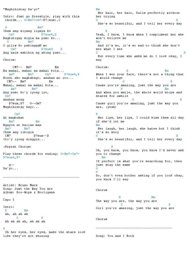 Old Fashioned Bruno Mars Songs Guitar Chords Gallery Beginner