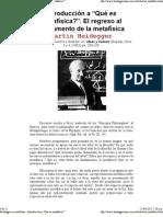 Martin Heidegger - Introducción a _Qué es metafísica__