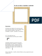 Bastidor cuadrado - Construcción