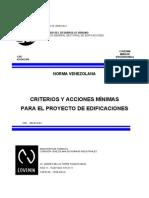 COVENIN 2002-88-CRITERIOS Y ACCIONES MINIMAS