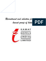Recruitment and Selection Procedure of Kamat Group Of