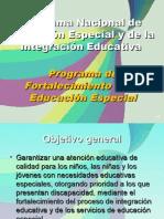Programa Nacional de Fortalecimiento de la Educación Especial y la Integración Educativa