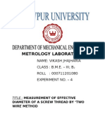 Measurement of Efective Diameter of a Screw Thread 4