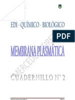 EDI quimico biologico N° 2 MEMBRANA PLASMÁTICA