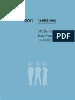 OTC Derivative Trade Flows Post the Dodd-Frank Act