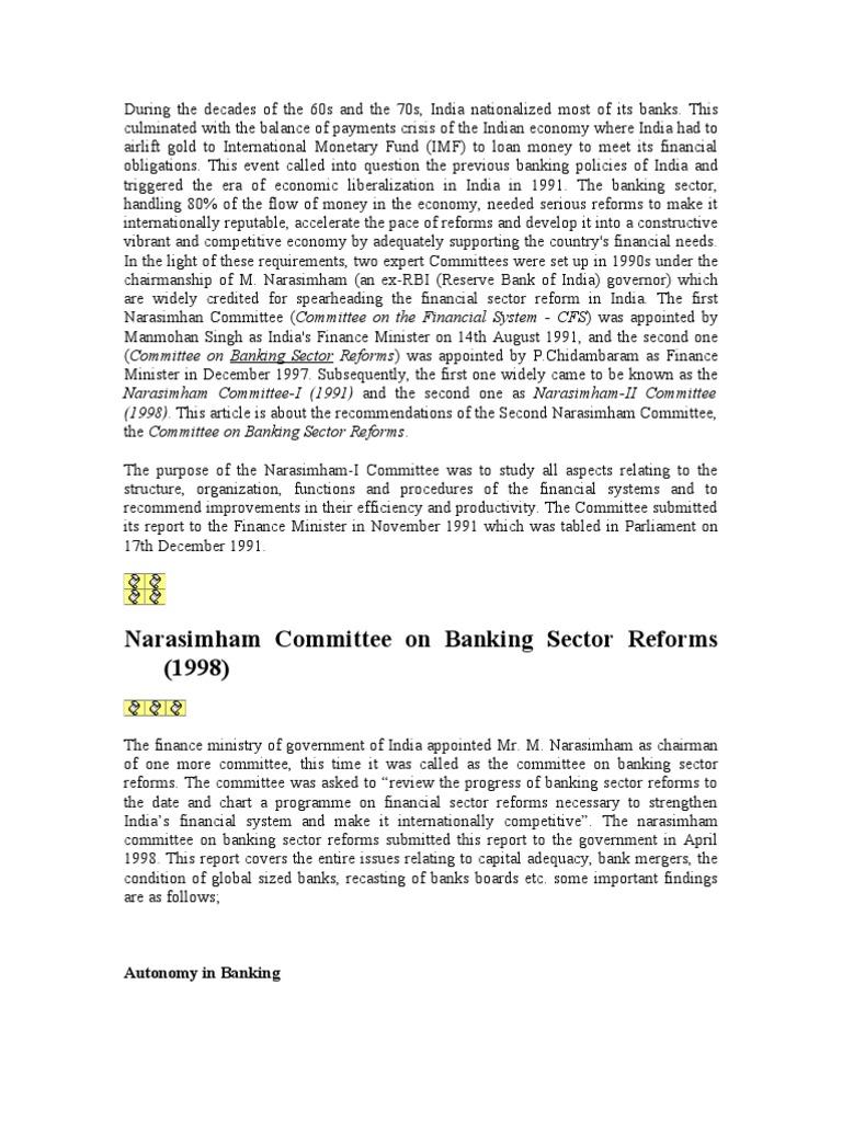 narasimham committee 2 slideshare