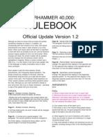 FAQ 40k Rulebook Version 1-2