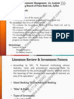 Evaluation of Investment Management- An Analysis on Islami Banking Branch of Prime Bank Ltd Sylhet