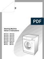 Samsung B1215J Washing Machine Manual