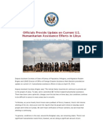 Officials Provide Update on Current U.S. Humanitarian Assistance Efforts in Libya