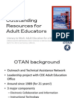 OTAN – Outstanding Resources for Adult Educators COABE 11