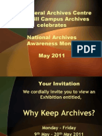Exhibition - Open Days 2011 - Why Keep Archives (Barbados Archives Month)