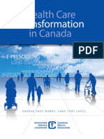 CMA Health Care Transformation in Canada 2010 Report