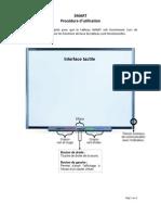Utilisation de l'écran tactile du tableau interactif SMART