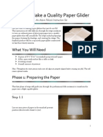 How to Make a Quality Paper Glider