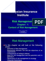 Chapter- 1 Contex of Risk Management-2011