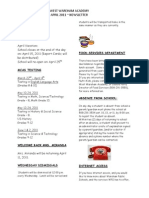 WWA April 2011 Newsletter