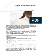 Como Elaborar Propostas Técnicas e Comerciais para Projetos de Consultoria