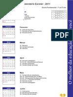 Calendário para pais 1º ao 5º