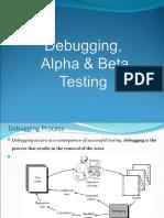 11305_Lect Debugging, Alpha & Beta Testing)