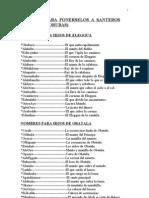 Nombres de santeros